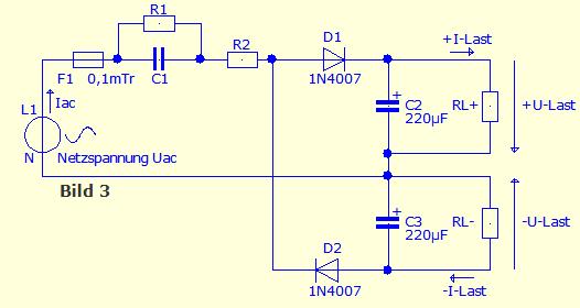 kondensatornetzteil kondensator als vorwiderstand